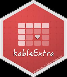 kableExtra